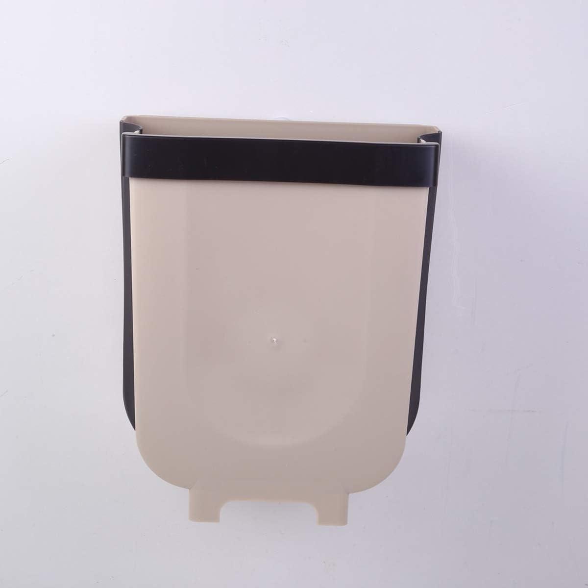 DERCLIVE Folding Waste Bin Kitchen Cabinet Door Hanging Trash Can for Home Car Office Dorms Living Rooms