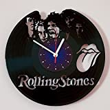 The Rolling Stones - Vinyl Wall Clock Art Gift Room Modern Home Record Vintage Decoration Gift for Fans