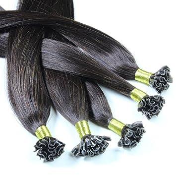 Just Beautiful Hair 100 x 0.8 g Extensiones de Queratina, VIRGIN - 40cm- Liso, Colore #Negro Natural: Amazon.es: Belleza
