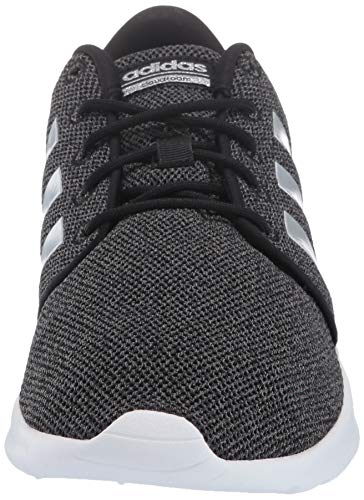 adidas Women's Cloudfoam Qt Racer Sneaker, Black/Silver Metallic/Grey, 5.5 M US by adidas (Image #4)