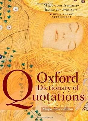 Oxford Dictionary of Quotations: Amazon.es: Elizabeth ...