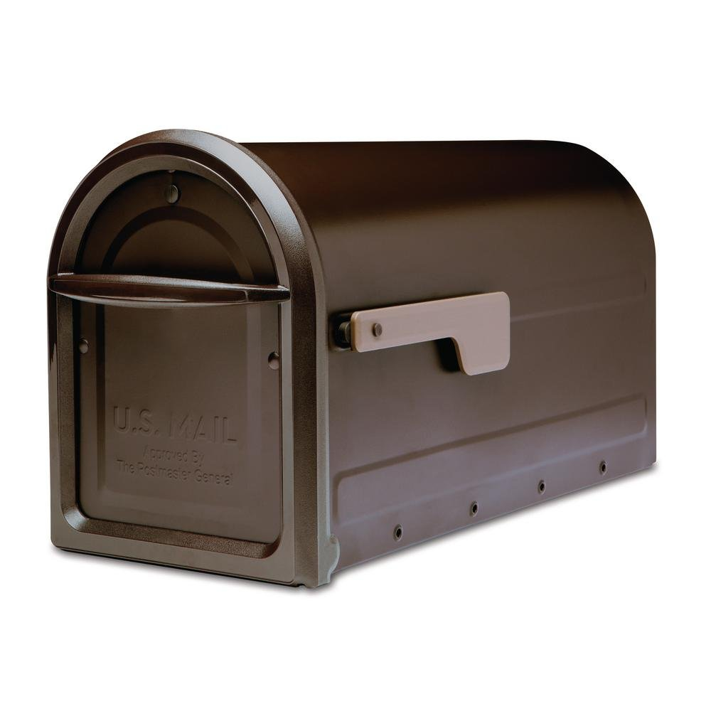 Architectural Mailboxes 7900-2RZ-CG-10 Mapleton Postmount Mailbox, Large, Rubbed Bronze