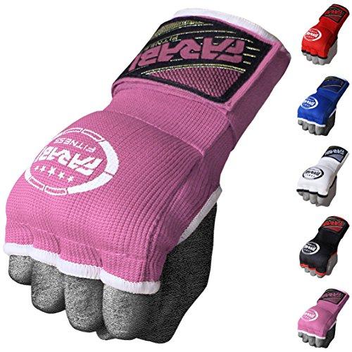 Farabi Kids Hybrid Boxing Inner Gloves Punching Boxing MMA Muay Thai Gym Workout Hand Wraps Gel Inner Gloves Fingerless Gloves Bandages Mitts Hand Protector. (Junior, Pink)