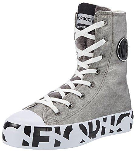 Piombo Piombo Grigio Sneaker Fiorucci Feim042 a Alto Donna Collo gFqaw0p