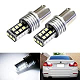 iJDMTOY Super Bright 10W 15-SMD P21W 7506 LED Replacement Bulbs For Audi BMW Mercedes Volkswagen Backup Reverse Lights, Xenon White