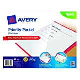 Avery Priority Pocket File Folder, Assorted, Letter Size, Pack of 24 (73510)