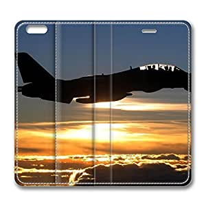 iPhone 6 Leather Case, Personalized Protective Flip Case Cover War Airplane 47 for New iPhone 6