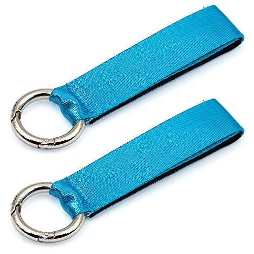 Gripper Strap (Hibate Add A Bag Luggage Strap Jacket Holder Gripper Suitcase Belt - 2 Pack, Blue)