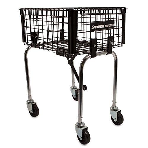 Racket Cart (Gamma Ballhopper Premium Brute Tennis Travel Cart – Heavy Duty Construction, Hinged Lockable Lid, Convenient Design, Secure Caster Wheels for Maximum Portability, Ideal Court Accessory, Holds 220 Balls)