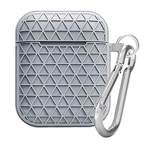 Sodoop for AirPods Case Protective Silicone Cover with Keychain Shockproof Anti-Lost Protective Cover Skin for AirPods 2 Charging Case Accesssories