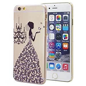 For Iphone 5C Case Cover Case 5.5 AFYCOLOR Hard PC Material with 3D UV Embossing Craft Print - Handmake Series of Princess in Black Dress