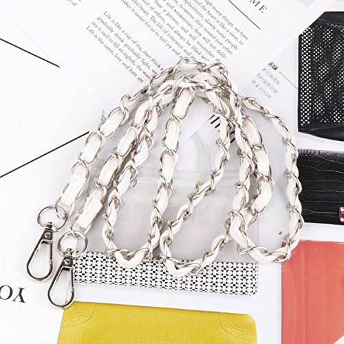Shoulder Strap White Silver Black iiniim Metal size Purse Leather Handbag Chain One Gold Replacement body with Accessories Metal Cross Bag With RRY8w