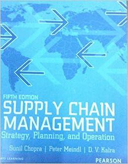 Supply Chain Management Sunil Chopra 5th Edition Pdf