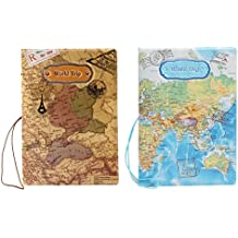 YIUHART World Map Pattern Passport Cover for Travel