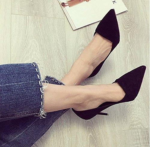MDRW-Signora/Elegante/Lavoro/Tempo Libero/Primavera 9Cm High-Heeled Nero  Scarpe Scarpe Scarpe Con Un Punto Di Fine All-Match Tempo Libero 37:  Amazon.it: ...