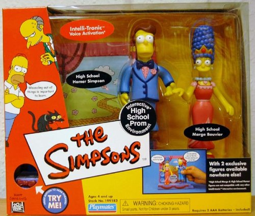 The Simpsons Exclusive Playset High School Prom with Homer and Marge - Exclusive Playmates Playset