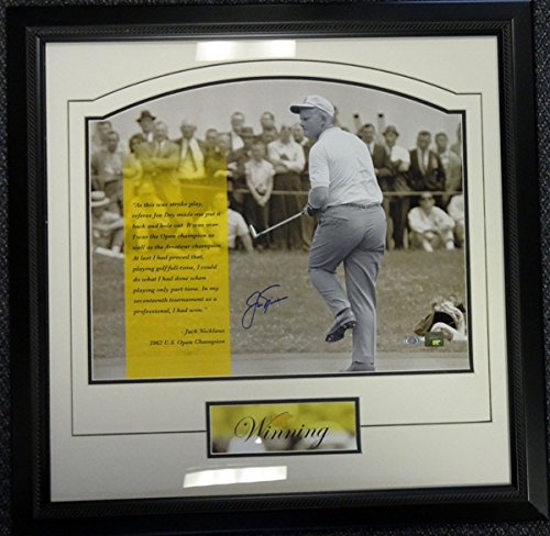 - Jack Nicklaus Autographed Framed 16x20 Photo Steiner Holo