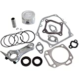 Cozy Pack of Piston Kits + Connecting Rod + Cylinder Head Muffler Intake Manifold Full Gaskets + Crankcase Oil Seal fit…