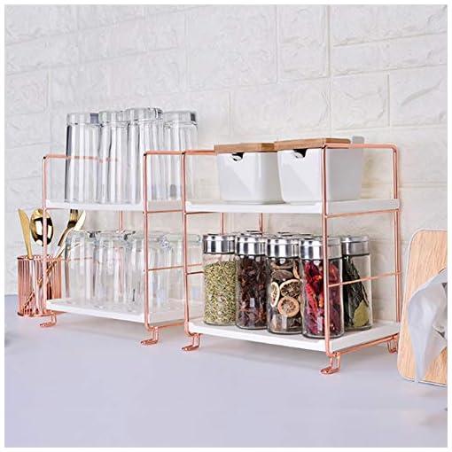 Kitchen Bathroom Countertop Organizer 2 Tier Storage Shelves Multifunctional for Bathroom Vanity Cosmetic Kitchen Spice Rack… spice racks