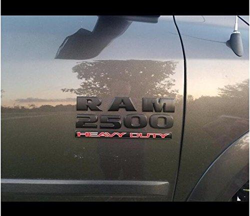 Set OEM Black RAM 2500 4X4 plus Grille Tailgate 6.4 Liter HEMI Emblems Badge Replacement for RAM 2500 2013-2018 Black QUK