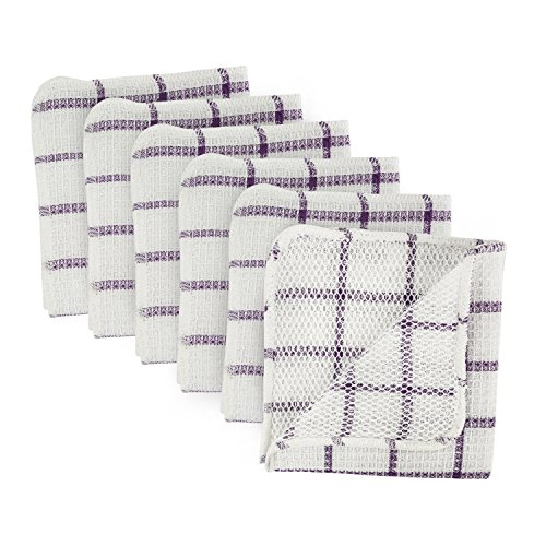 DII Machine Washable, Everyday Kitchen Basic Scrubber Dish Cloths, 12 x 12 Inch, Set of 6