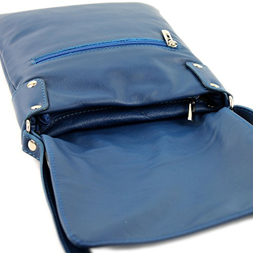 modamoda Blue de ladies bag bag ital leather Shoulder T33 Messenger Zx6zx