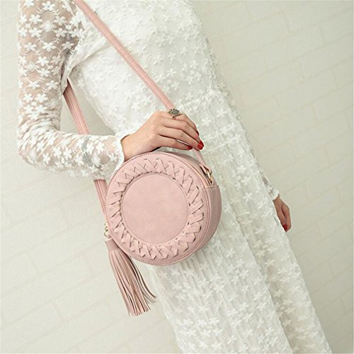 PU Leather Crossbody Bag Women For Messenger Shoulder Bags Woven Red Bag Younth qEAwAFt