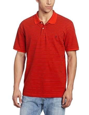 Victorinox Men's Patron Stretch Pique Polo, Fire Orange, Medium