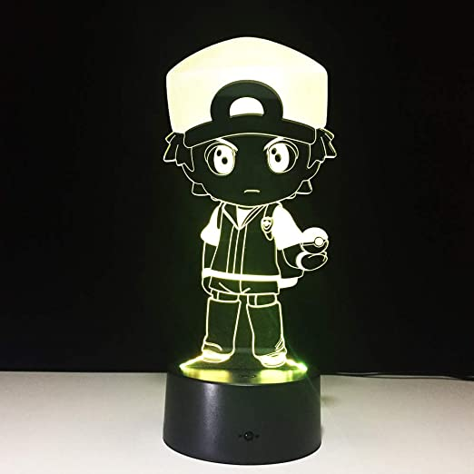 KangYD Police Boy 3D Night Light, LED Visual Lamp Kids Gift ...
