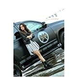 Agents of S.H.I.E.L.D. 8 x 10 Photo Chloe Bennet/Skye Black & White Striped Dress Leaning Against Shield Car kn