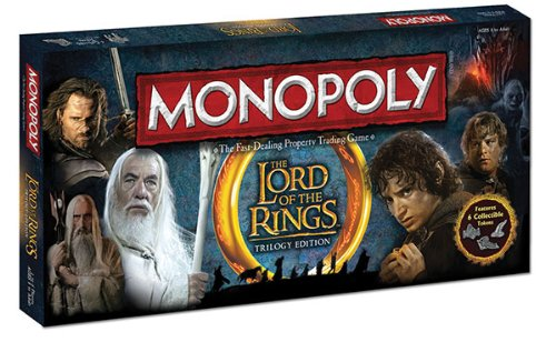 The Lord of the Rings Trilogy Edition Monopoly – LOTR