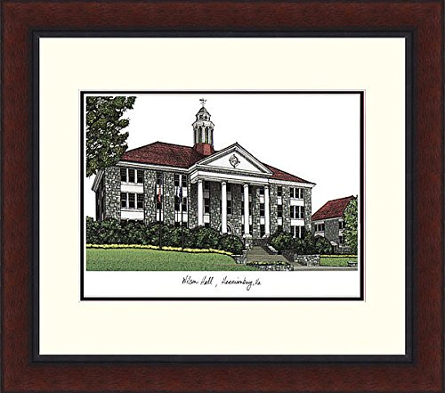 James Madison University Legacy Alumni Exquisitely Framed Imprinted Home Office Lithograph (Lithograph Madison University James)