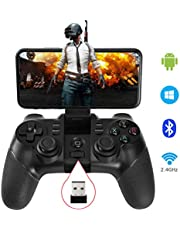 allcaca Controller Wireless Gamepad Rechargeable Game Phone Controller, Compatible with Android Phone, Tablet, TV, TV Box, PC Bluetooth Receiver included(Not for ios devices)