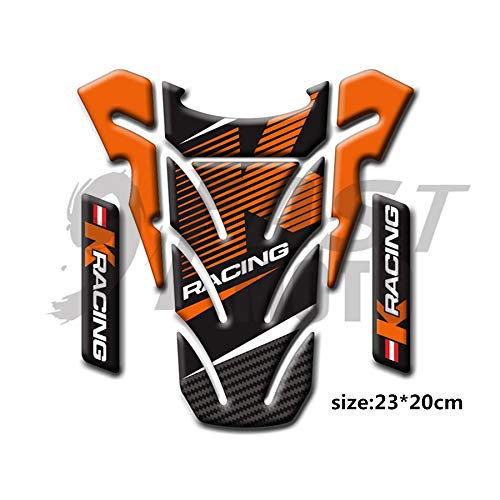 9FastMoto 3D Motorcycle Tank Pad Protector for Motorbike Racing Fuel//Oil//Gas Tank Decals Decal Orange /& Black