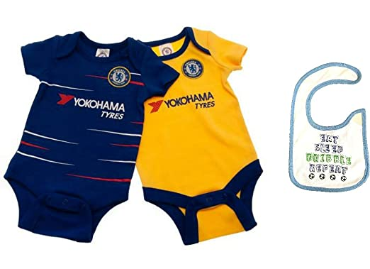 buy popular b431d 68451 Official CHELSEA FC Merchandise Football Club 2 Pack Baby ...
