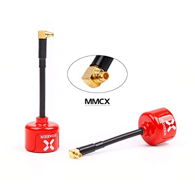 nidici Foxeer Lollipop 2 FPV Antenna 5.8GHz RHCP Ommi 2.5dbi MMCX Antenna for FPV Quadcopeter TX/RX/VTX (Angle)(Red,Pack of 2): Toys & Games