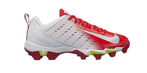 new concept e240c e8843 NIKE Boy's Vapor Untouchable Shark 3 BG Football Cleat White/Metallic  Silver/University Red