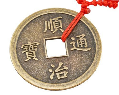 Chinese Ancient Coin Reproduction Pendant Necklace