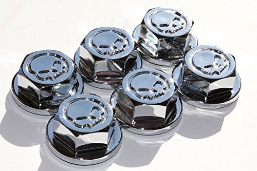 Turbo Style Products Bad Bolts Simulated Bolt Heads - Chrome Skull