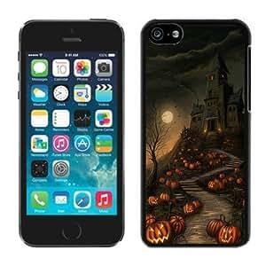 MMZ bricolaje teléfono CASEPopular diseño vivo iphone 5/5S TPU funda protectora de goma Halloween negro iphone 5/5s caso 1