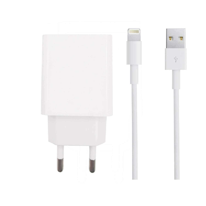 ZLONXUN Cargador 2A y Cable USB para iPad Air 1/2,iPad Mini 2/3/4,iPad 4/5/6/Pro, iPhone X/XS/XR/8/8 Plus/7/7 Plus/6/6s Plus