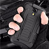 Galaxy S4/i9500 Case,Stanlance Swivel Belt Clip Holster Shell Cover with Kickstand [MILITARY GRADE] Heavy Duty Sturdy Rubber Armor Case for Samsung Galaxy S4/i9500