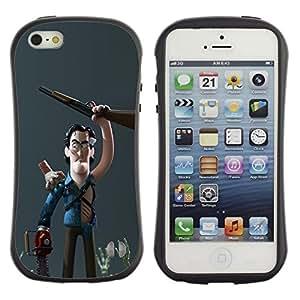 "Pulsar iFace Series Tpu silicona Carcasa Funda Case para Apple iPhone SE / iPhone 5 / iPhone 5S , Carácter cazador de escopeta 3D Niños"""