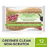 Scotch-Brite Greener Clean Natural Fiber Non-Scratch Scrub Sponge, 12 Scrub Sponges
