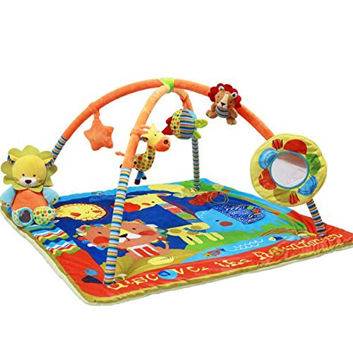AIBAB Baby Spielmatte Rainforest Erlebnisdecke Regenwald Multifunktionale Baby Spieldecke mit Notenständer Gamepad Fitness-Rack Krabbeldecke Frühkindliche Spielzeuge