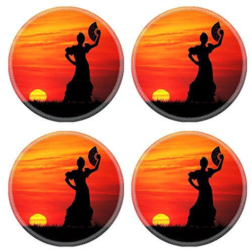 Liili Round Coasters IMAGE ID 16857013 spanish girl (Girls Spanish Flamenco Dancer Costume)