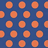 Ideal Home Range 20-Count Big Dots 3-Ply Paper Lunch Napkins, Blue and Orange