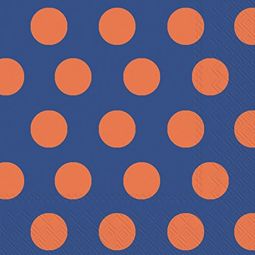 Ideal Home Range 20 Count Boston International Big - Polka Dot Paper Plates Orange