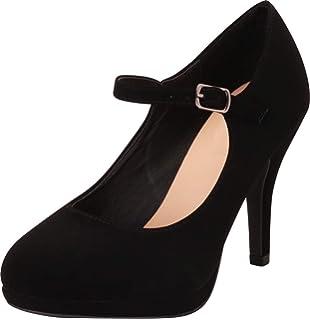 977429acabf Cambridge Select Women s Mary Jane Buckle Strap Dress Cushioned High Heel  Pump