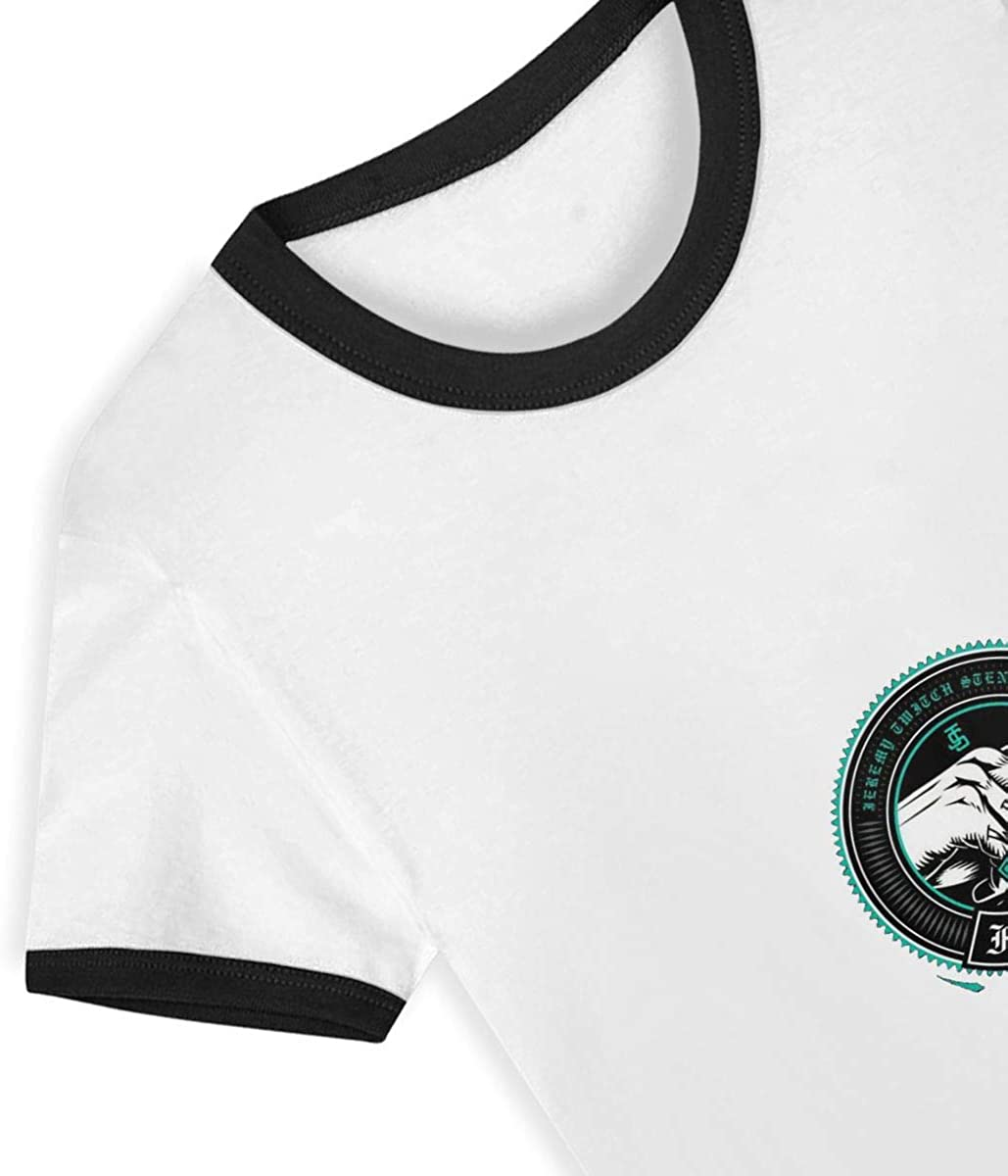 Famous Stars and-Straps Childrens Short Sleeve T-Shirt Casual Classic Cotton Shirt with Round Collar Black